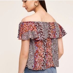 Anthropologie Maeve Valitta Off The Shoulder Top